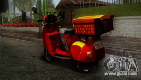 Original Pizzaboy IVF para GTA San Andreas left