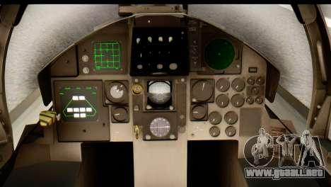 F-15DJ Mitsubishi Heavy Industries para GTA San Andreas vista hacia atrás