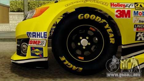 NASCAR Toyota Camry 2013 para GTA San Andreas vista posterior izquierda