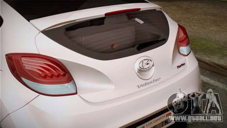 Hyundai Veloster 2012 Autovista para la visión correcta GTA San Andreas