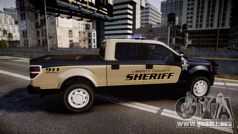 Ford F150 2010 Liberty County Sheriff [ELS] para GTA 4 left