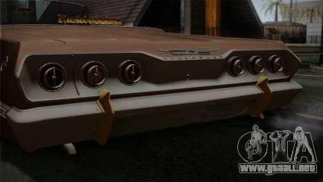 Chevrolet Impala para GTA San Andreas vista hacia atrás