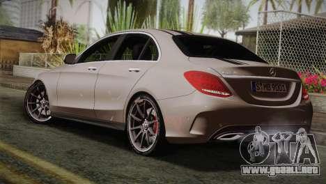 Mercedes-Benz C250 AMG Edition 2014 EU Plate para GTA San Andreas left