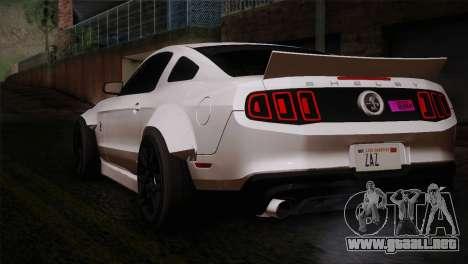 Ford Shelby GT500 RocketBunny SVT Wheels para GTA San Andreas left