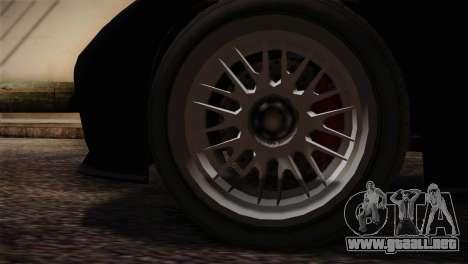GTA 5 Invetero Coquette v2 IVF para GTA San Andreas vista posterior izquierda