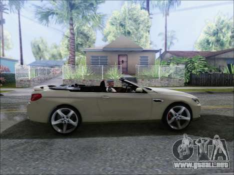 BMW M6 Cabriolet 2012 para GTA San Andreas vista posterior izquierda