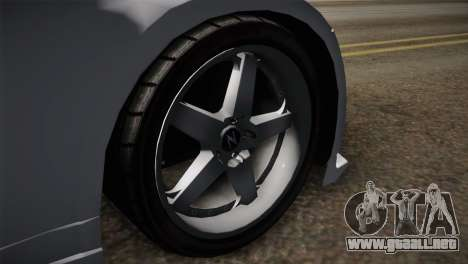 Nissan 350Z Nismo para GTA San Andreas vista posterior izquierda
