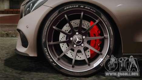 Mercedes-Benz C250 AMG Edition 2014 EU Plate para GTA San Andreas vista posterior izquierda