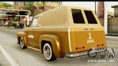EFLC TLaD Vapid Slamvan para GTA San Andreas left