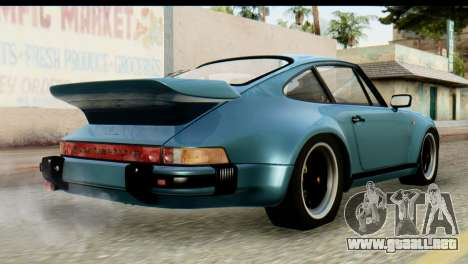 Porsche 911 Turbo 3.3L 1981 Tunable para GTA San Andreas left