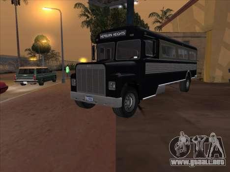 Autobús из GTA 3 para la visión correcta GTA San Andreas