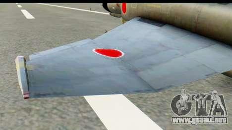 F-4EJ Mitsubishi Heavy Industries para GTA San Andreas vista posterior izquierda