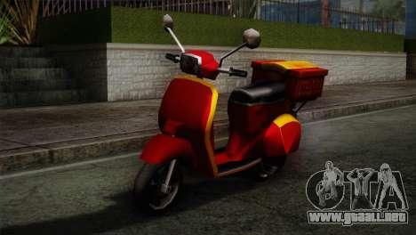 Original Pizzaboy IVF para GTA San Andreas