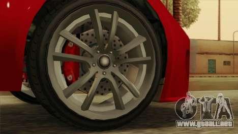 GTA 5 Coil Voltic v2 para GTA San Andreas vista posterior izquierda