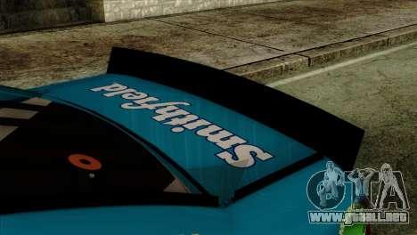 NASCAR Ford Fusion 2013 para la visión correcta GTA San Andreas