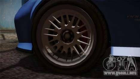 GTA 5 Invetero Coquette v2 para GTA San Andreas vista posterior izquierda