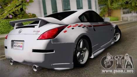 Nissan 350Z Nismo para GTA San Andreas left