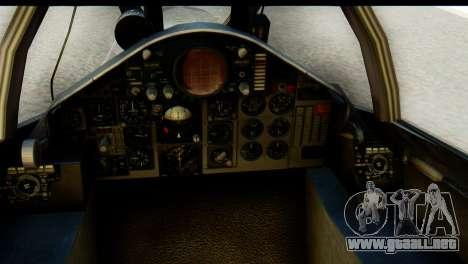 F-4EJ Mitsubishi Heavy Industries para GTA San Andreas vista hacia atrás