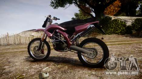 Kuruhawa Motorsport 450 para GTA 4 left