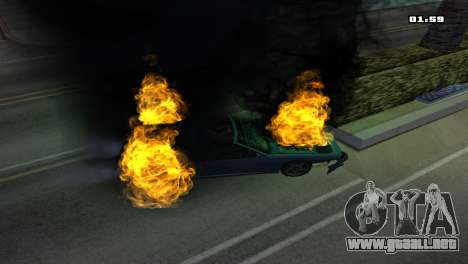 Burning Car para GTA San Andreas