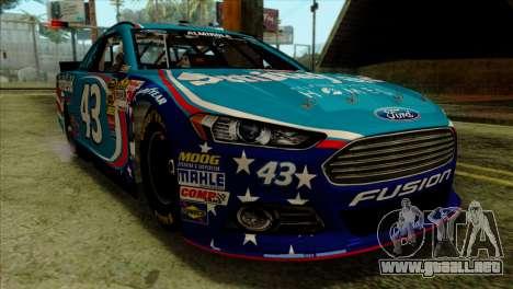NASCAR Ford Fusion 2013 para GTA San Andreas vista hacia atrás