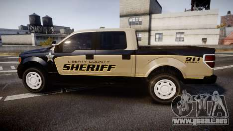 Ford F150 Liberty County Sheriff [ELS] Slicktop para GTA 4 left