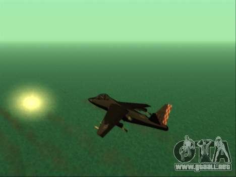 McDonnell Douglas AV-8B Harrier II Beta para la vista superior GTA San Andreas