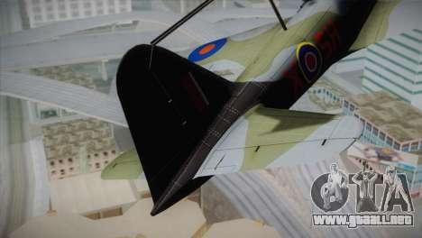 ИЛ-10 de la Royal Air Force para GTA San Andreas vista posterior izquierda