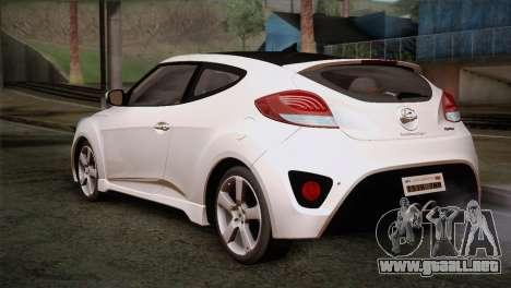 Hyundai Veloster 2012 Autovista para GTA San Andreas left