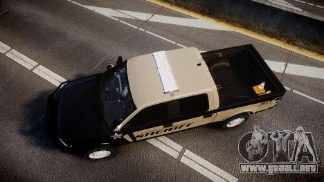 Ford F150 2010 Liberty County Sheriff [ELS] para GTA 4 visión correcta
