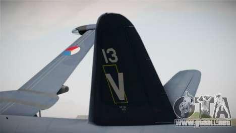 Lockheed P2V-7 Neptune MLD para GTA San Andreas vista posterior izquierda