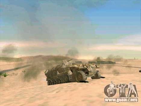 Sd Kfz 251 Camuflaje Desert para vista lateral GTA San Andreas