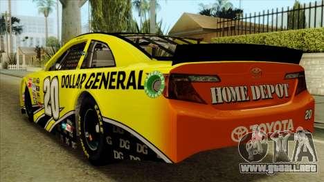 NASCAR Toyota Camry 2013 para GTA San Andreas left