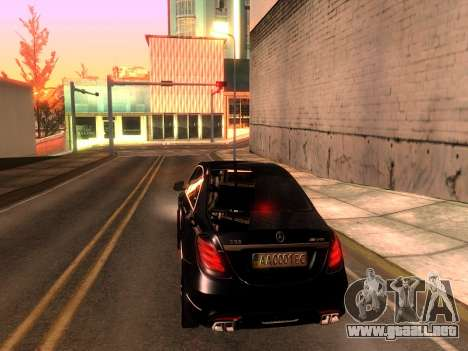 Mercedes-Benz Long S65 W222  Black loaf para GTA San Andreas left