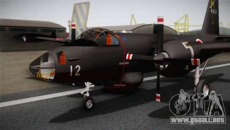P2V-7 Lockheed Neptune RCAF para GTA San Andreas vista hacia atrás