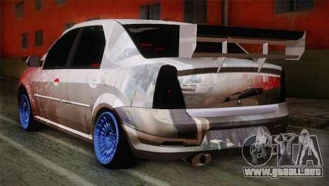 Dacia Logan Most Wanted Edition v1 para GTA San Andreas left