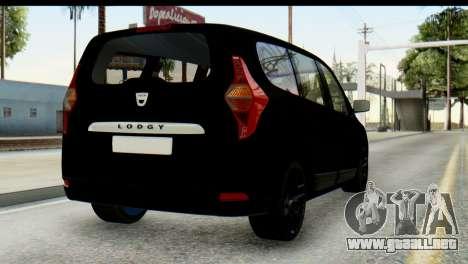 Dacia Lodgy para GTA San Andreas left