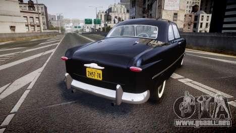 Ford Custom Club 1949 v2.1 para GTA 4 Vista posterior izquierda