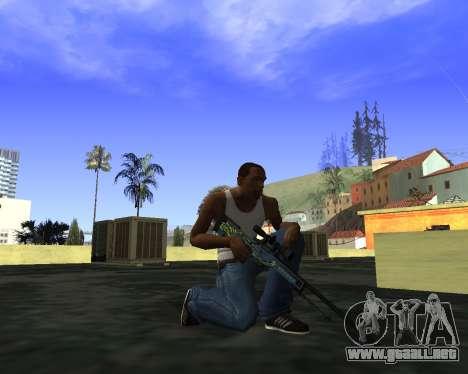 Skins Weapon pack CS:GO para GTA San Andreas segunda pantalla