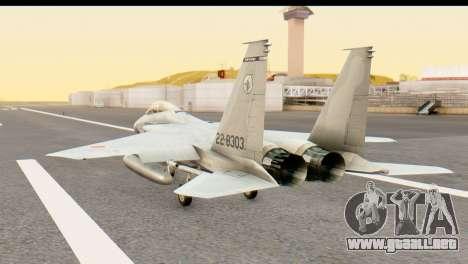 F-15DJ Mitsubishi Heavy Industries para GTA San Andreas left