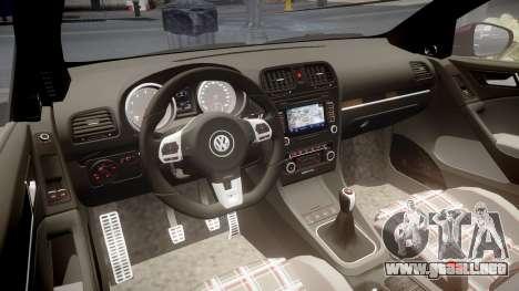 Volkswagen Golf Mk6 GTI rims2 para GTA 4 vista interior