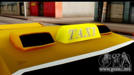Peugeot 407 Sport Taxi para visión interna GTA San Andreas