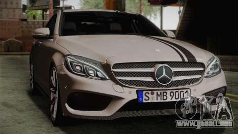 Mercedes-Benz C250 AMG Edition 2014 EU Plate para GTA San Andreas vista hacia atrás