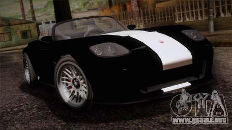 GTA 5 Invetero Coquette v2 IVF para GTA San Andreas vista hacia atrás