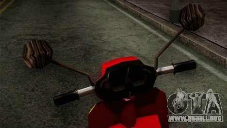 Original Pizzaboy IVF para la visión correcta GTA San Andreas