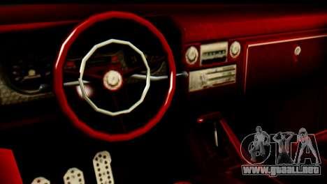 EFLC TLaD Vapid Slamvan para GTA San Andreas vista hacia atrás