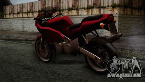 Original BF-400 IVF para GTA San Andreas left
