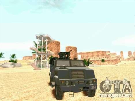 Blindados De Oso para GTA San Andreas vista posterior izquierda