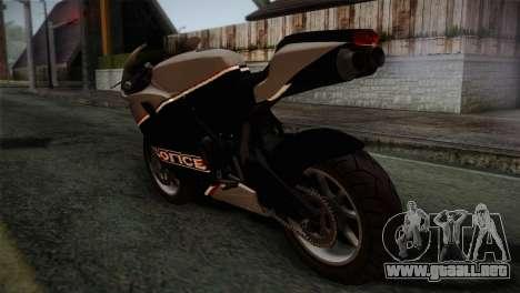GTA 5 Bati Police para GTA San Andreas left