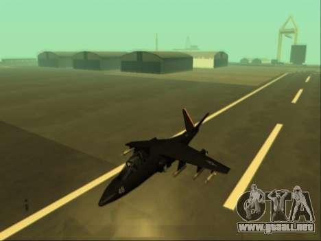 McDonnell Douglas AV-8B Harrier II Beta para GTA San Andreas vista posterior izquierda